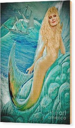 Goddess Atargatis 1000 Bc Wood Print by Gary Keesler