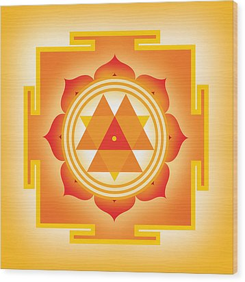 Goddess Durga Yantra Wood Print by Soulscapes - Healing Art