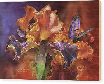Goddess Of Miracles Wood Print by Carol Cavalaris