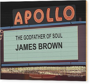 Godfather Of Soul Wood Print by Michael Lovell