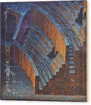 Gold Auditorium Wood Print by Mark Howard Jones