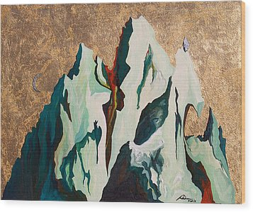 Gold Mountain Wood Print by Joseph Demaree