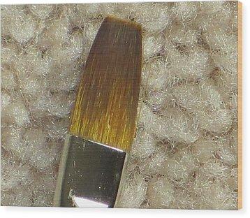 Golden Brush Wood Print by Sonali Gangane