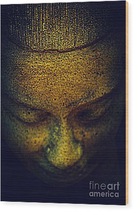 Golden Buddha Wood Print by Susanne Van Hulst