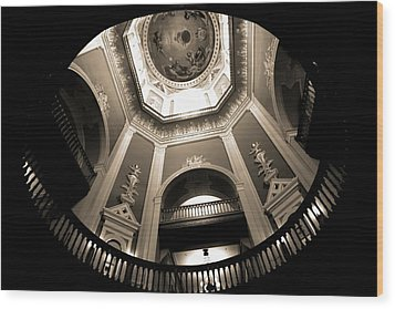 Golden Dome Ceiling Wood Print by Dan Sproul