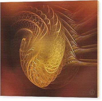 Golden Heart Wood Print by Gun Legler