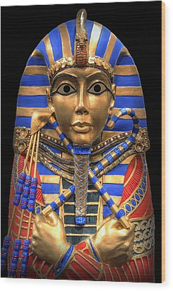 Golden Inner Sarcophagus Of A Pharaoh Wood Print by Daniel Hagerman
