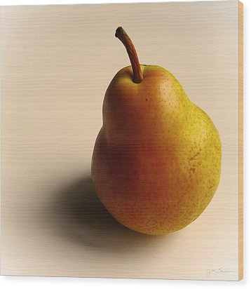 Golden Pear Wood Print by Julie Magers Soulen