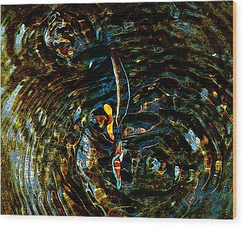 Golden Ripples Wood Print by Lehua Pekelo-Stearns
