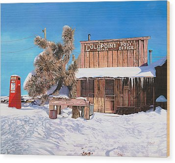 Goldpoint-nevada Wood Print by Guido Borelli