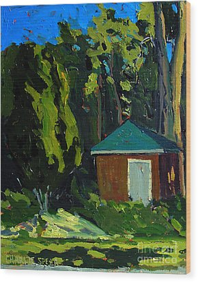 Golf Course Shed Series No.19 Wood Print by Charlie Spear