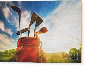 Golf Equipment  Wood Print by Michal Bednarek