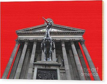Goma Pop Art Red Wood Print by John Farnan