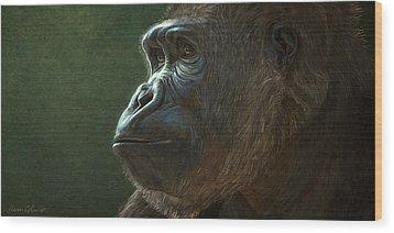 Gorilla Wood Print by Aaron Blaise