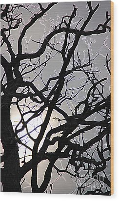 Goth Tree Wood Print by First Star Art