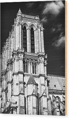Gothic Notre Dame Wood Print by John Rizzuto