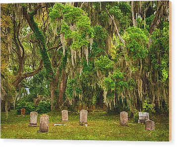 Gould's Cemetery Wood Print by Priscilla Burgers