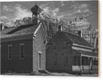 Grafton Ghost Town Utah Wood Print by Utah Images