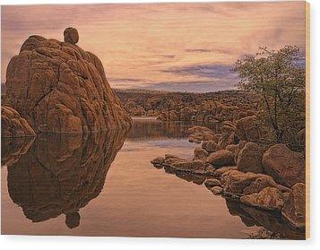 Granite Dells Wood Print by Priscilla Burgers