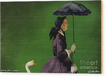 Granny Gets A Goose... Wood Print by Will Bullas