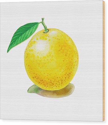 Grapefruit Wood Print by Irina Sztukowski