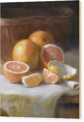 Grapefruit Wood Print by Robert Papp