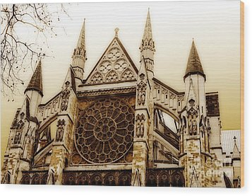 Great Architecture Westminster Abbey Wood Print by MaryJane Armstrong