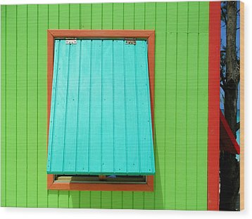 Green Cabin Wood Print by Randall Weidner