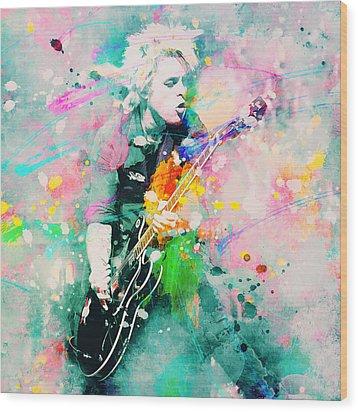 Green Day  Wood Print by Rosalina Atanasova