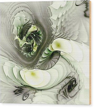 Green Dragon Wood Print by Anastasiya Malakhova