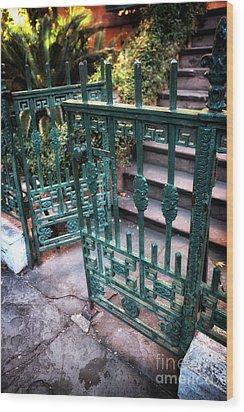 Green Gate Of Savannah Wood Print by John Rizzuto