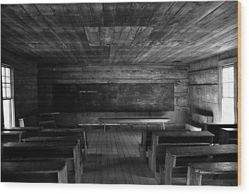 Greenbrier School Circa 1882 Wood Print by David Lee Thompson