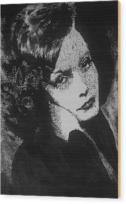 Greta Garbo Wood Print by Cherise Foster
