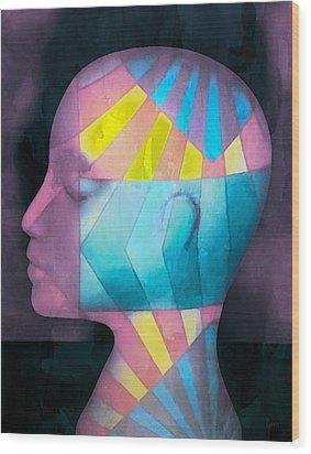 Grid Head Wood Print by Jeff  Gettis