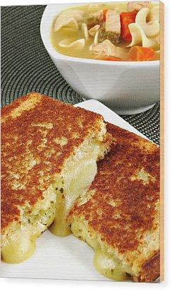 Grilled Cheese Wood Print by Karin Hildebrand Lau