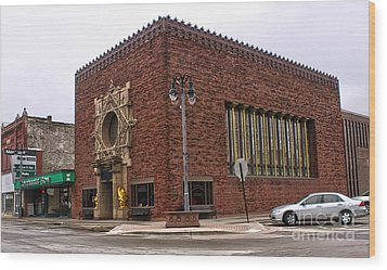 Grinnell Iowa - Louis Sullivan - Jewel Box Bank - 01 Wood Print by Gregory Dyer