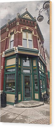 Grinnell Iowa - Downtown - 02 Wood Print by Gregory Dyer