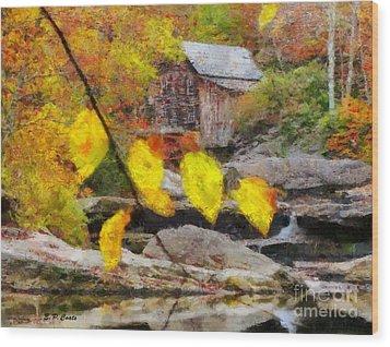 Grist Mill Wood Print by Elizabeth Coats