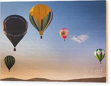 Group Of Balloons Wood Print by Inge Johnsson