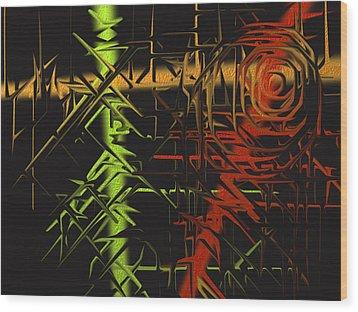 Grunge Wood Print by Michael Jordan
