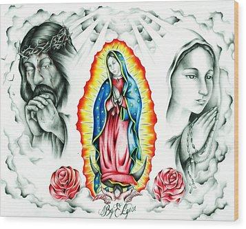 Guadalupe Wood Print by Eddie Egesi