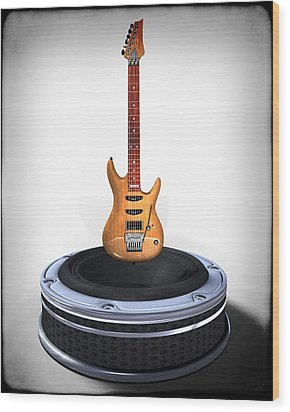Guitar Desplay V1 Wood Print by Frederico Borges
