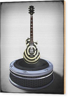 Guitar Desplay V2 Wood Print by Frederico Borges