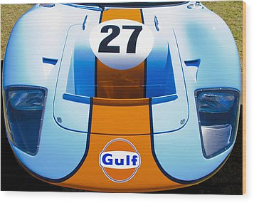 Gulf Ford Gt40 Wood Print by motography aka Phil Clark