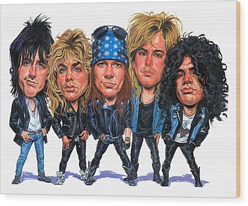 Guns N' Roses Wood Print by Art