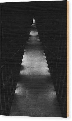 Hallway To Nowhere Wood Print by Christi Kraft