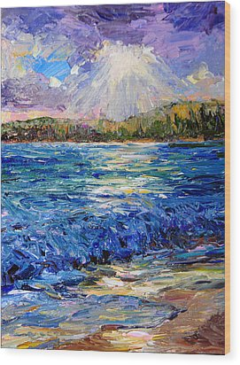 Hanalei Sunrise Wood Print by Steven Boone