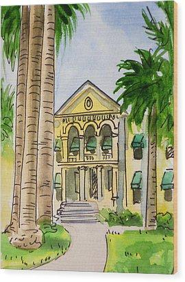 Hanford - California Sketchbook Project Wood Print by Irina Sztukowski