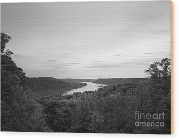 Hanover College Ohio River View Wood Print by University Icons