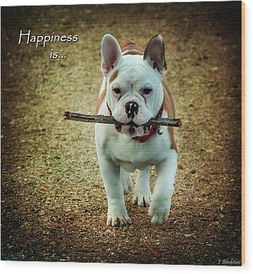 Happiness Is Wood Print by Jordan Blackstone